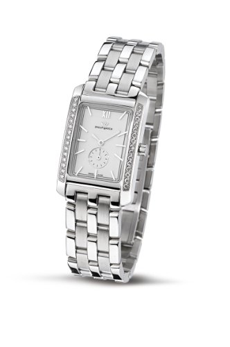 Philip Ladies Tales Analogue Watch R8253422703 with Quartz Movement, White Dial and Stainless Steel Case
