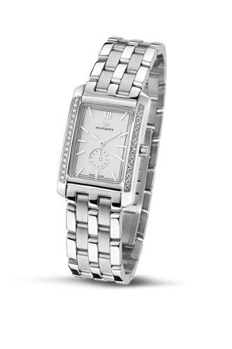 Philip Watch R8253422703 - Reloj analógico de cuarzo para mujer, correa de acero inoxidable color plateado