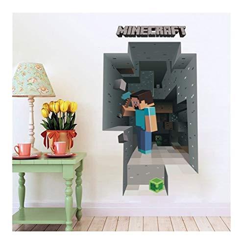 SYYL Adesivo Murale Gioco Popolare Minecraft for La Decorazione della Camera dei Bambini 3D Finestra PVC Murale Arte Fai da Te Ragazzi Decalcomania della Parete (Color : 6009)