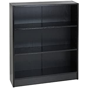 Hartleys Black 3 Tier Bookcase