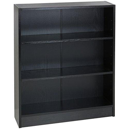 Hartleys Black 3 Tier Bookcase