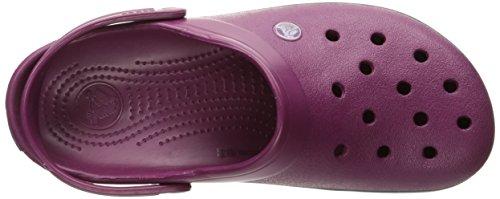 Crocs Crocband Clog, Sabots Mixte Adulte Violet (Plum/Navy)