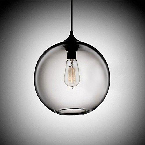 Cozyle Pendentif Vintage suspension à lumière en verre transparent Shades