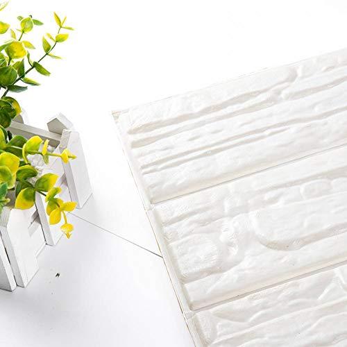 VIOYO Wandaufkleber 3D Ziegel Tapete Pe Schaum Tapete Selbstklebende Platten Raum Aufkleber Stein Dekoration Geprägte 60 * 30 Cm (Vinyl-platten Steine)