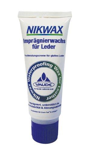 Nikwax Schuhpflege Waterproofing Wax für Leather VPE12 Schuhimpraegnierung, Schwarz
