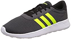 adidas neo Mens Lite Racer Cblack, Syello and Dgsogr Sneakers - 6 UK/India (39.33 EU)