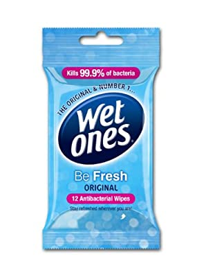 Wet Ones Be Fresh Original Antibacterial Wipes Pack of 6