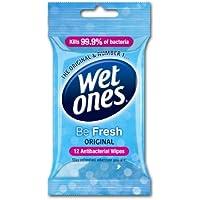 Wet Ones Be Fresh Original Antibacterial Wipes Pack of 6
