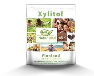 Naturtotal Xylit / Xylitol 1 KG aus Finnland, hergestellt aus Hölzern
