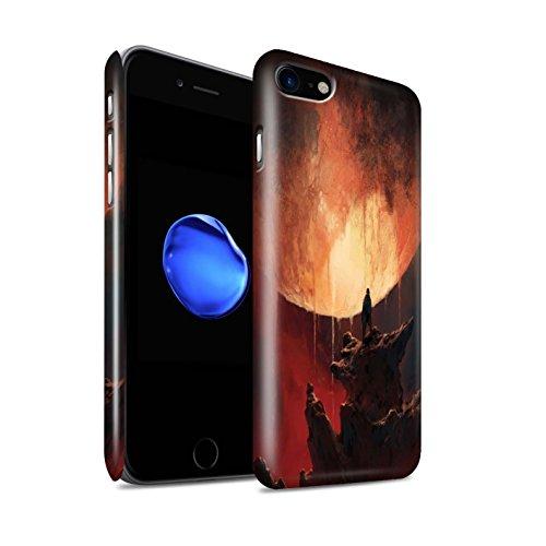 Offiziell Chris Cold Hülle / Glanz Snap-On Case für Apple iPhone 8 / Raum Mädchen Muster / Fremden Welt Kosmos Kollektion Schmelzen Sonne