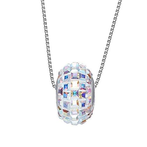 Haixin Collier de perles en argent sterling Lucky transbordement avec élément Swarovski Crystal Jewelry