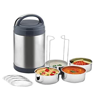 Power Plus Stainless Steel Containers Lunch Box, 4-Pieces (H56)