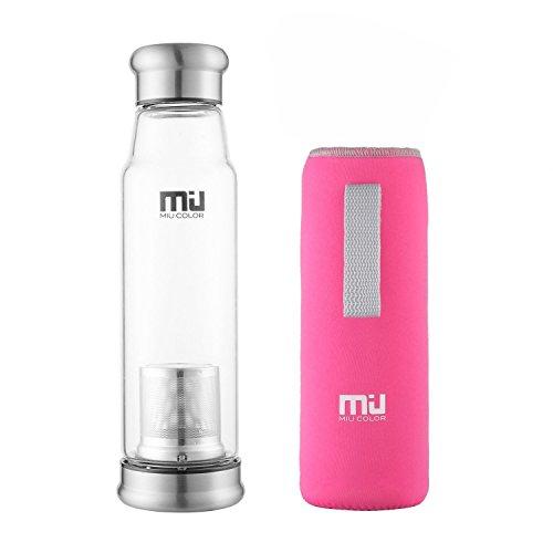 Botella de agua de vidrio borosilicato de 625ml MIU COLOR®, botella