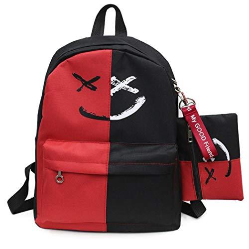 Zaino scuola media superiore studenti casual + astuccio - beautyjourney zaini per scuola ragazza ragazzi adolescenti tumblr medie superiore backpack - moda donna canvas borsa tracolla