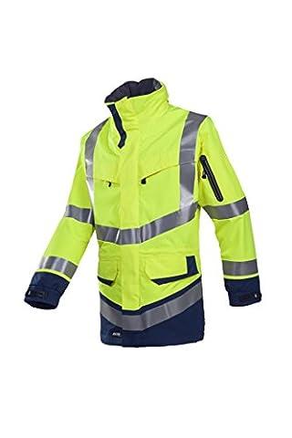 SIOEN 708ZA2LH2415M Windsor Hi-Vis Rain Jacket, Medium, Yellow/Navy