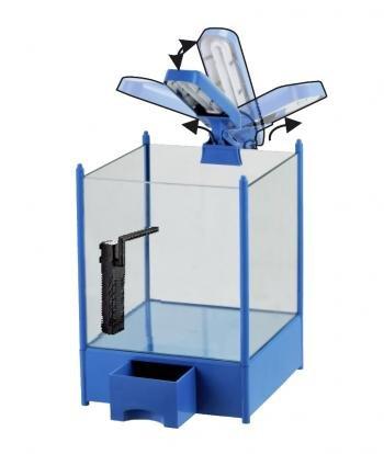 NANO QUBE 4 KIDS (blau / 16 L) H-250 Aquarium - Set mit Beleuchtung + Innenfilter