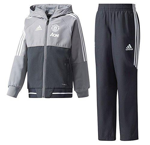 adidas Manchester United 2017 Präsentation Anzug Kinder, Grau, 2 Jahre