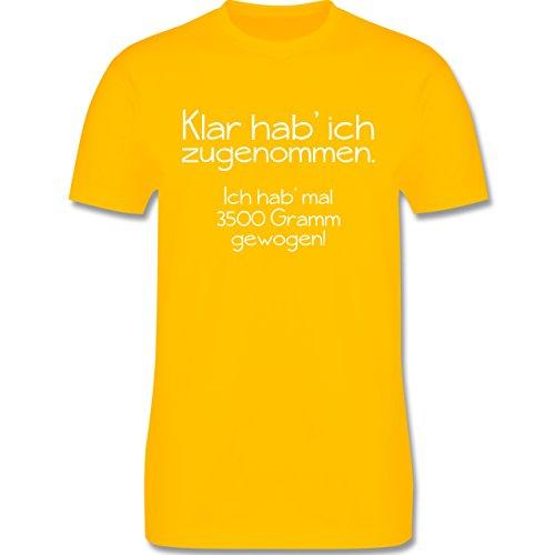 Statement Shirts - Klar hab' ich zugenommen - Herren Premium T-Shirt Gelb