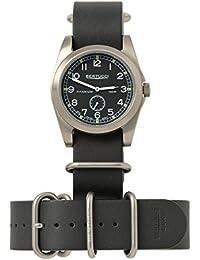Bertucci h13322Unisex titanio patrimonio negro Dial de banda de nylon negro reloj