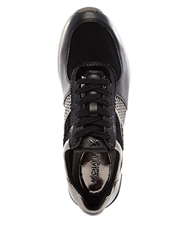 Michael Kors Sneakers Allie Trainer Black Gun Noir/Gun Metal