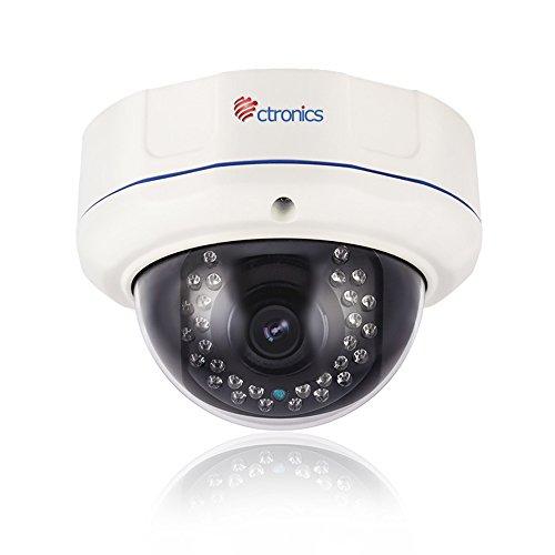 (auto zoom) Ctronics Security di sicurezza Dome Camera IP 2Megapixel POE 1920x 1080Pixel 4volte zoom ottico esterno & # xff0F; vandalismo protetto con 2.8-12mm gleitsicht Zoom Len motorizzata e 30LED IR fino a 100ft IR