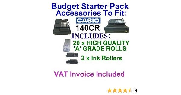 2 Casio 130CR 140CR 160CR 800ER Purple Cash Register Till Ink Rollers