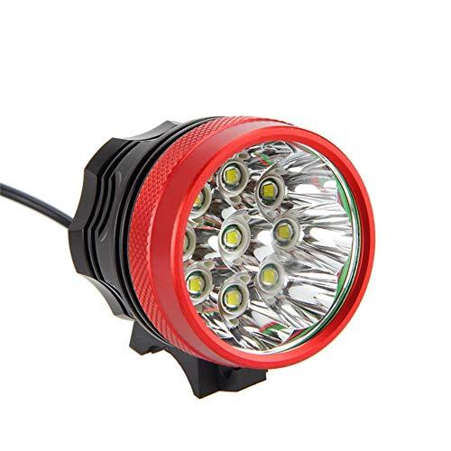 FIVEFIRE 18000LM 9x CREE XM-L T6 wasserdicht Fahrradlicht , Scheinwerfer, Kopflampen, Stirnlampe, Fahrrad Vorderes Leuchtturm, 3 Modes mit 6 x 18650 Akku-Ladegerät