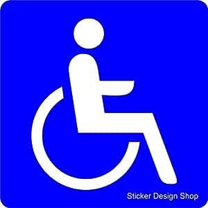 sticker design shop behinderten rollstuhl magnetschild. Black Bedroom Furniture Sets. Home Design Ideas
