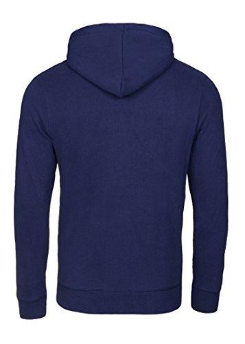 Casual Standard Hoodie Herren Kapuzenpullover Sweatshirt Kapuzenpulli Pullover mit Kapuze Blau