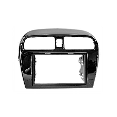 carav 11-129 Doppel DIN Autoradio Radioblende DVD Dash Installation Kit für Mitsubishi Mirage 2012 +, Space Star 2013 + Faszie mit 173 * 98 mm und 178 * 102 mm (Star Panel)