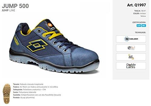 Lot Works Q1997 Jump 500 S1p Src - Chaussure De Sécurité Bleu / Jaune (aviateur / Jaune)