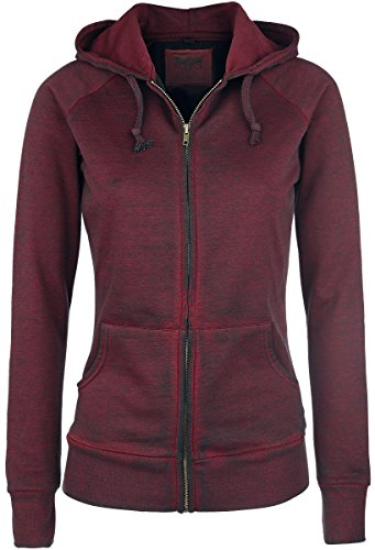 Black Premium by EMP Burnout Zipper Felpa jogging donna bordeaux S