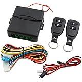 sourcingmap® Alarma de coche negroKit central remoto universal Sistema de entrada sin llave de la cerradura de la puerta
