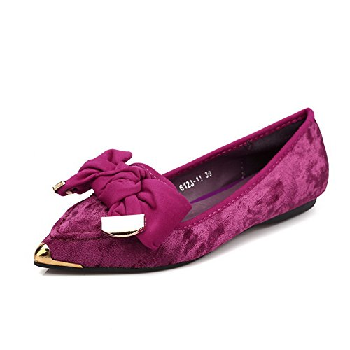 voguezone009-womens-imitated-suede-solid-pull-on-pointed-closed-toe-no-heel-flats-shoes-rosered-37