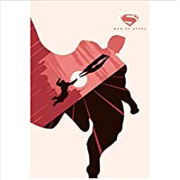 Aiopjkl Marvel Dc Super Heroes Aqua Poster Comics Figure Minimalist Canvas Painting Avengers Batman Wall Art Picture For Living Room 16X24 Inch Without Farme