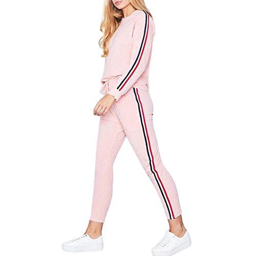 Frauen Trainingsanzug Hoodies Sweatshirt Top Hosen Sets Sport Wear Casual Suit -