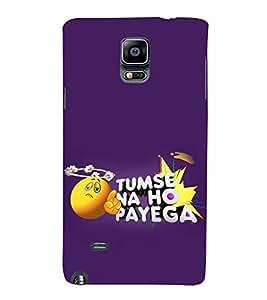 Print Masti Designer Back Case Cover for Samsung Galaxy Note Edge :: Samsung Galaxy Note Edge N915Fy N915A N915T N915K/N915L/N915S N915G N915D (Funny Thought Smiley Finger)
