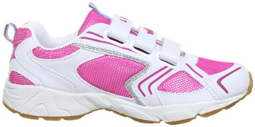 Lico Silverstar V, Chaussures de Fitness Fille Blanc (Weiss/Pink/Silber)