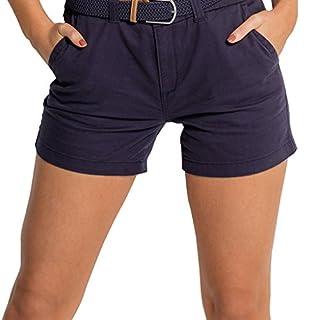 Asquith & Fox Women's Classic Chino Shorts In Navy - 10