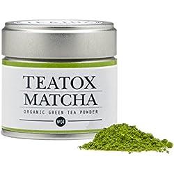 TEATOX Matcha, Bio Matcha Grüntee Pulver aus Japan, Ceremonial Grade (30g Dose)