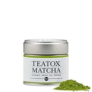 TEATOX Matcha, Bio Matcha Grüntee Pulver aus Japan in stylisher Dose, Ceremonial Grade, 30g