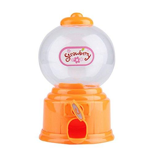 Kinder Weiß Süßigkeiten Maschine Piggy Gumball Spar Münzbehälter Retro Süßigkeiten Mini - Orange