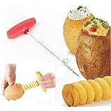EPRHAY Couteau à spirales pour légumes et fruits et légumes, couteau à spirales, pommes de terre, carotte, concombre, hachoir