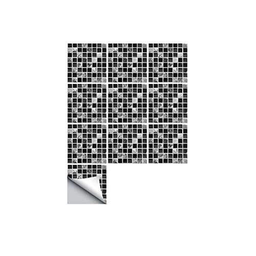 Mosaik-kunst (Eternitry Fliesen Aufkleber 3D Selbstklebende Wasserdichte Wandaufkleber Schwarz Marmor Mosaik Tapete Kunst Für Badezimmer Küche Boden Wand Möbel Wohnkultur)