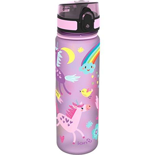 Ion8 Trinkflasche mit Einhorn-Motiv, schmal, auslaufsicher , BPA-frei, 500 ml
