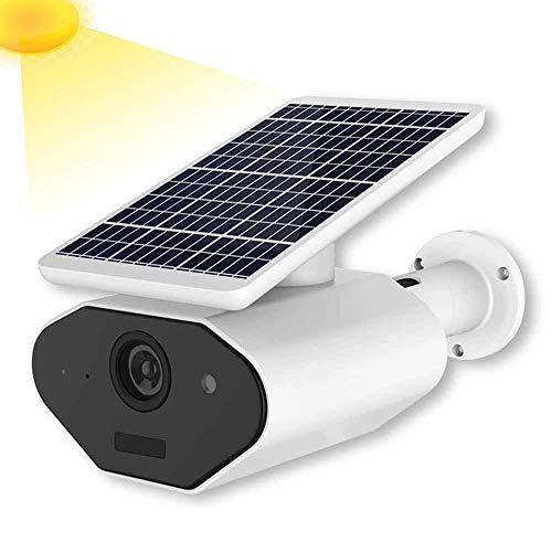 YLOVOW Batteriebetriebene Solarüberwachungskamera im Freien, drahtlose 2,4-GHz-WiFi-IP-Hauptkamera 1080P mit Bewegungserkennungsnachtsicht, wasserdichtes wetterfestes IP65 (Auto-lautsprecher Panasonic)