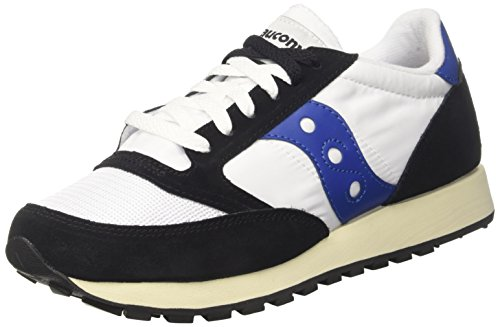 Saucony Jazz Original Vintage, Sneaker Unisex - Adulto, Bianco (Wht/Blk 15), 42 EU
