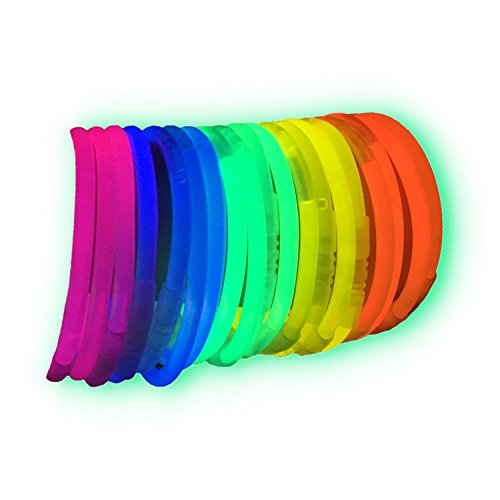 200 Pulseras luminosas glow pack multicolor