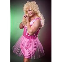 Zahnfee Kostüm Herren pink Ballerina Balletttänzerin Herrenkostüm Junggesellenabschied