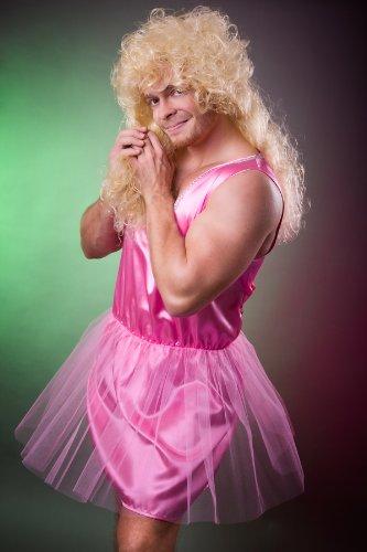 Zahnfee Kostüm für Herren in Gr. L pink Ballerina Balletttänzerin Herrenkostüm Junggesellenabschied (Männer Kostüme)